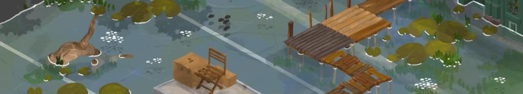 Image du jeu Apocalypsheim représentant Strasbourg inondée
